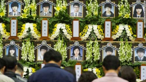 pha sewol: hoc sinh song sot tro lai truong - 1