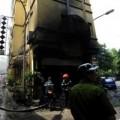 Hiện trường vụ cháy quán Karaoke 43G Giảng Võ