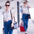 Làng sao - Jennifer Phạm khoe eo thon sexy tại sân bay