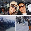 Làng sao - Jennifer Phạm cùng chồng đi trực thăng