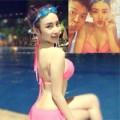 Làng sao - Angela Phương Trinh sexy bên bể bơi