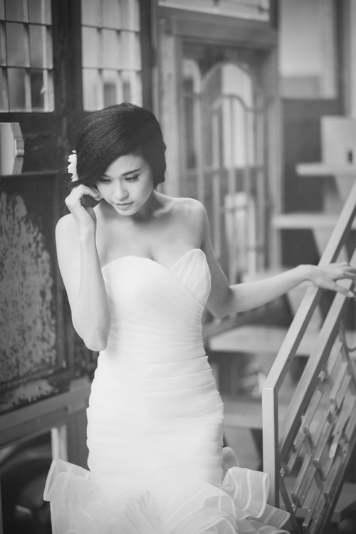 truong quynh anh dien vay cuoi lam co dau - 2