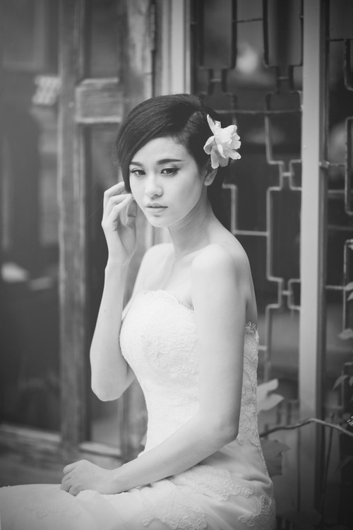 truong quynh anh dien vay cuoi lam co dau - 6