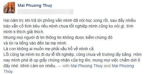 "mai phuong thuy xoa mac ""hoc mai khong ra truong"" - 2"