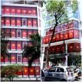 Nhà đẹp - Hai tòa nhà 8 tầng phủ cờ Tổ quốc tràn mặt tiền