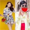 Thời trang - Thanh Hằng xinh yêu với túi hình miếng dưa hấu