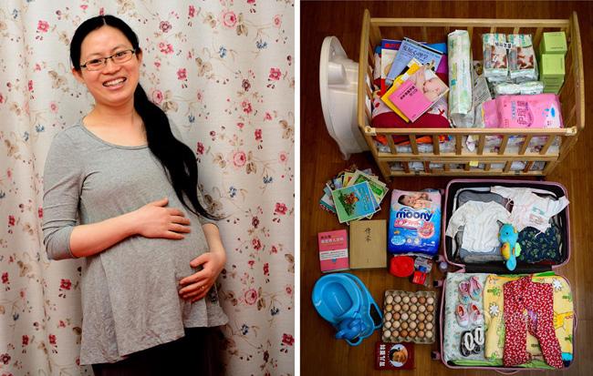 Mẹ Leilei ở Tây An mang bầu đã được 9 tháng nên bây giờ đang nằm nhà chờ sinh. Từ một vài tuần trước, chồng Leilei đãng chuẩn bị tới hơn 3 chục quả trứng để vợ tẩm bổ.