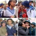 Tin tức - Những bức hình gây xúc động về mẹ tiễn con tòng quân
