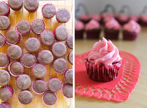 cach lam cupcake huong dau tay - 8