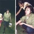 Làng sao - Bà Tưng về quê đi bắt cua đồng