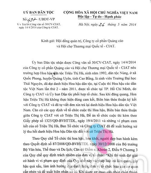Thêm một cơ quan muốn tước danh hiệu của Triệu Thị Hà-3