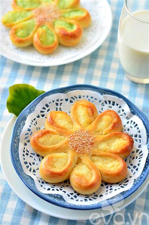 Bánh mì hình hoa dừa thơm ngon, đẹp mắt-9