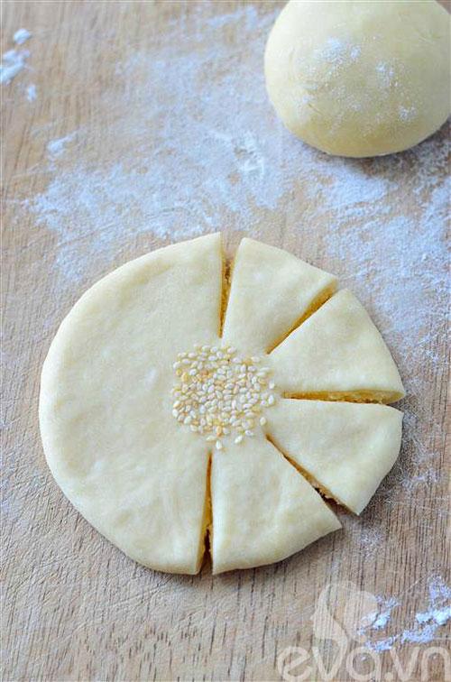 Bánh mì hình hoa dừa thơm ngon, đẹp mắt-6