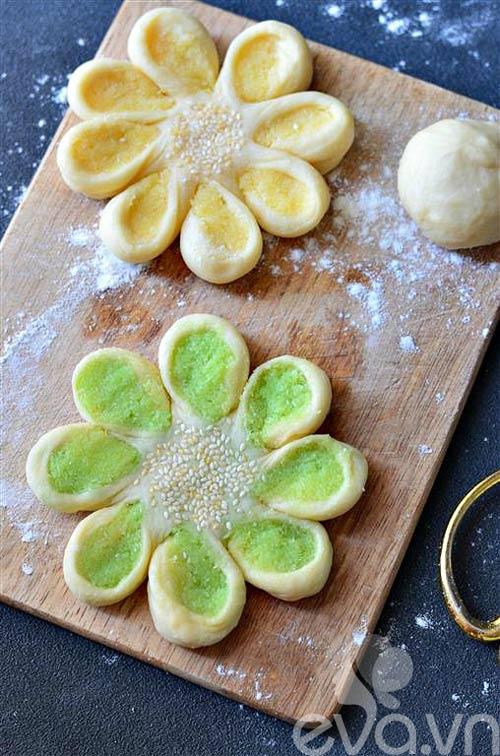 Bánh mì hình hoa dừa thơm ngon, đẹp mắt-8