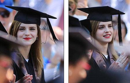 Emma Watson đẹp như tranh ở lễ tốt nghiệp-12