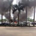 Tin tức - 3 ô tô bốc cháy dữ dội tại sân bay Nội Bài