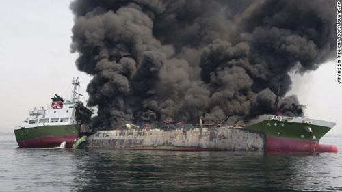 Nhật Bản: Nổ tàu chờ dầu, thuyền trưởng mất tích-1