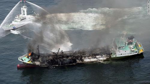 Nhật Bản: Nổ tàu chờ dầu, thuyền trưởng mất tích-2