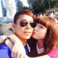 Làng sao - Lê Hoàng du hí Singapore cùng bạn gái hot girl