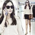 Làng sao - Cựu Hoa hậu Hàn khoe chân thẳng tắp