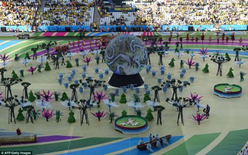 ruc ro sac mau tai le khai mac world cup 2014 - 2