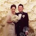 Làng sao - Trà My và chồng xúc động trong tiệc cưới
