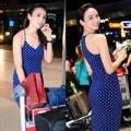 Làng sao - HH Ngọc Diễm diện váy sexy tại sân bay