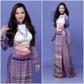 Làng sao - Bạn gái Ưng Hoàng Phúc ngọt ngào với áo dài