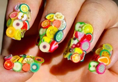 Mãn nhãn ngắm những mẫu nail 3D rực rỡ ngày hè-1