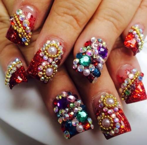 Mãn nhãn ngắm những mẫu nail 3D rực rỡ ngày hè-12