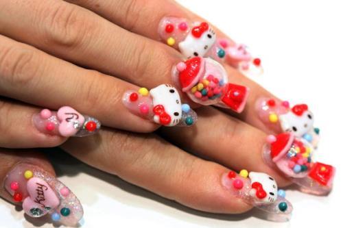Mãn nhãn ngắm những mẫu nail 3D rực rỡ ngày hè-5