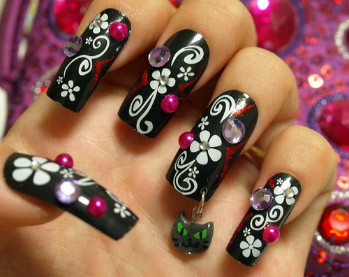 Mãn nhãn ngắm những mẫu nail 3D rực rỡ ngày hè-9