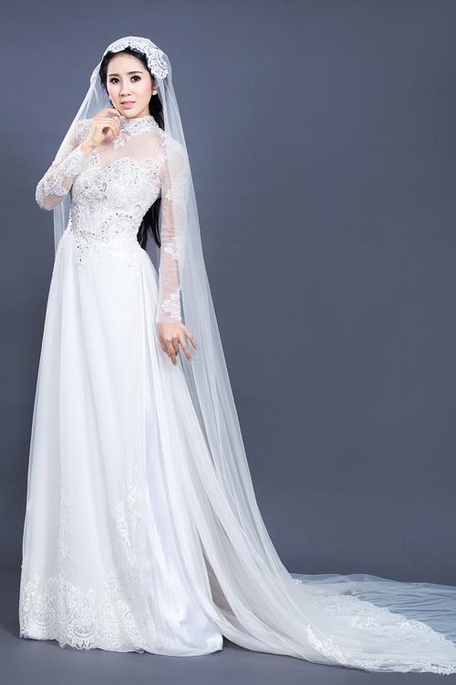"""Lê Phương mặc áo dài cưới """"không đụng hàng""""-6"""