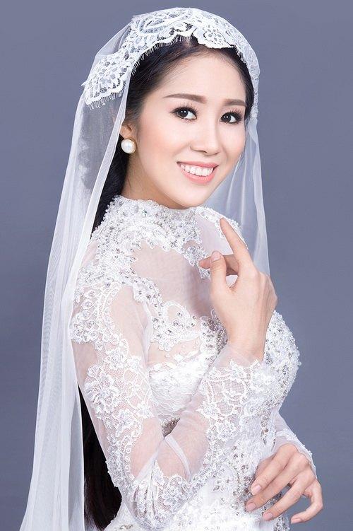 """Lê Phương mặc áo dài cưới """"không đụng hàng""""-8"""