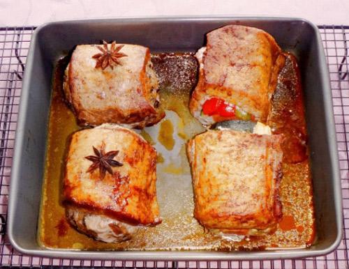 Thịt thăn lợn nhồi nấm hương đầy hấp dẫn - 6