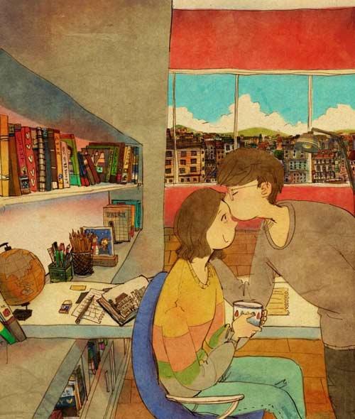 Bộ tranh đáng yêu về cuộc sống vợ chồng hạnh phúc-3