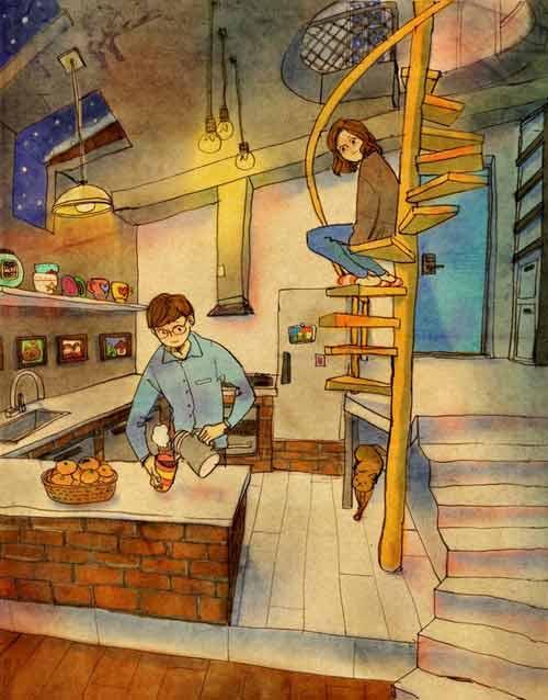 Bộ tranh đáng yêu về cuộc sống vợ chồng hạnh phúc-13