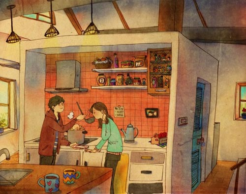 Bộ tranh đáng yêu về cuộc sống vợ chồng hạnh phúc-4