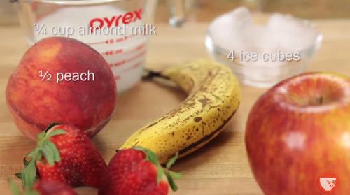 Sinh tố chuối dâu bổ dưỡng - 1