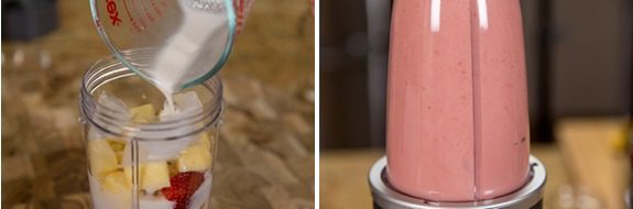 Sinh tố chuối dâu bổ dưỡng - 3