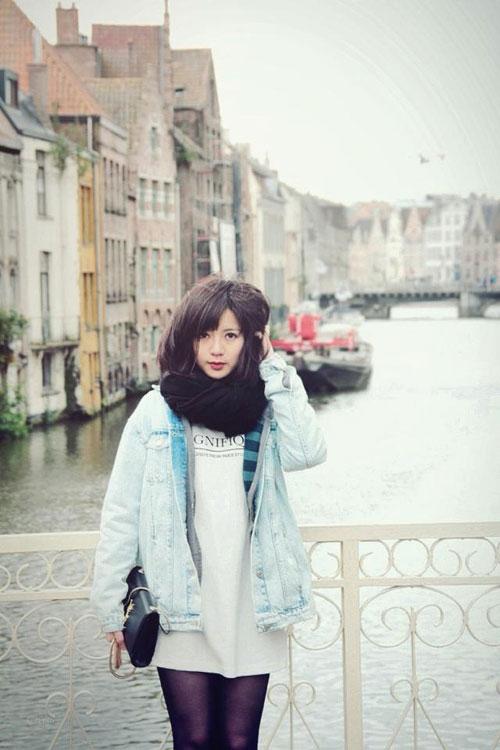 'hot girl mu' xinh ngat ngay gay 'bao' cong dong mang - 6