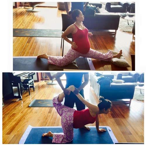 thu minh vac bung bau 8 thang tap yoga - 1