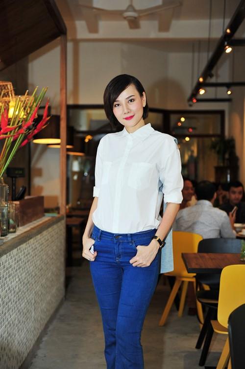 trinh kim chi van thon gon du 'bung bau' 7 thang - 8