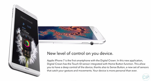 """y tuong iphone 7 """"di"""" voi nut vong xoay cua apple watch - 11"""