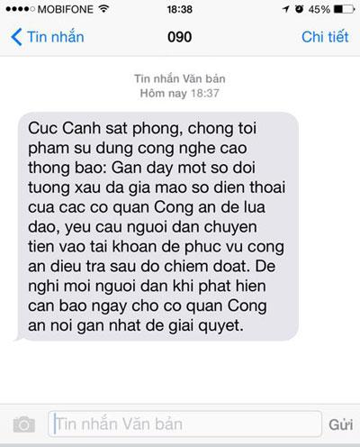 canh bao nan gia mao so dien thoai cong an de lua dao - 1