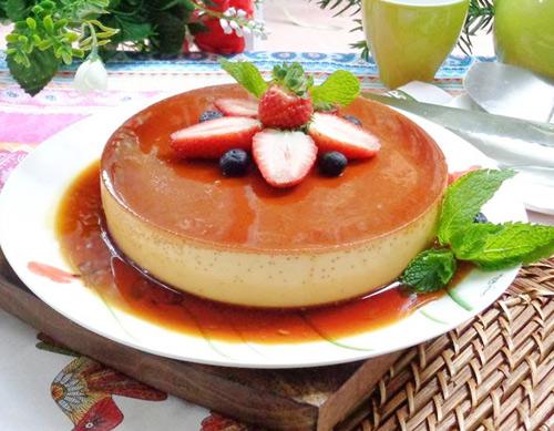 cheese cake flan beo mem, thom ngon - 7