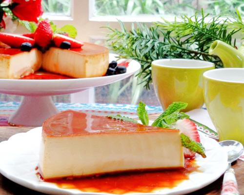 cheese cake flan beo mem, thom ngon - 9