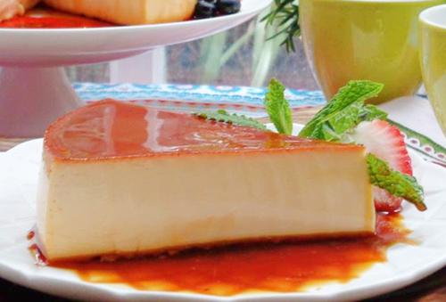 cheese cake flan beo mem, thom ngon - 11