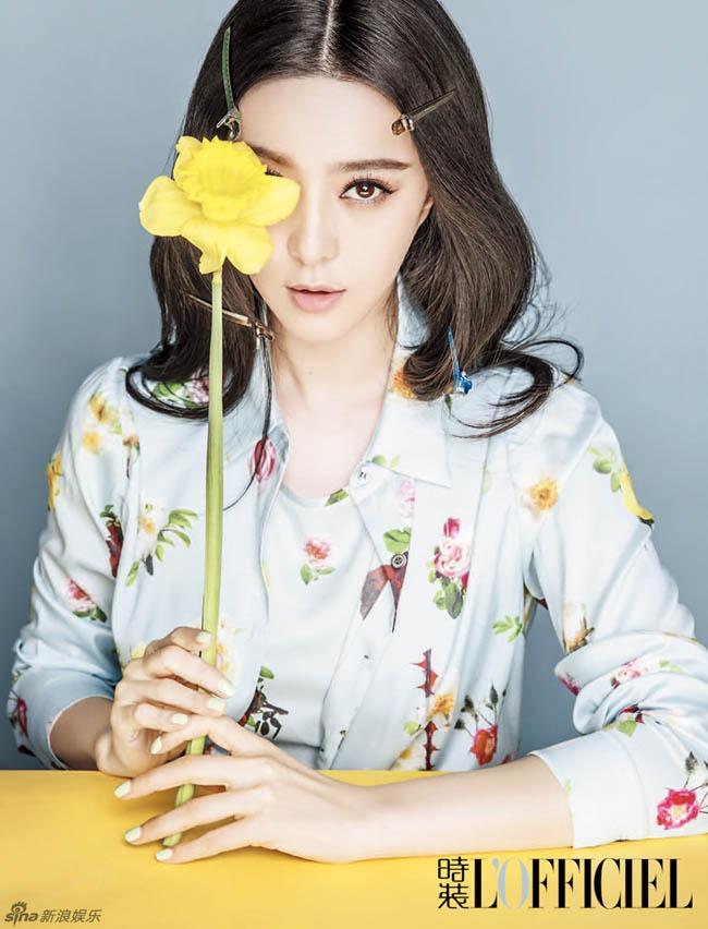 Chọn cách trang điểm nhẹ nhàng, Phạm Băng Băng vẫn gây ấn tượng với hình ảnh của mình trên tạp chí L'Officiel số mới nhất.