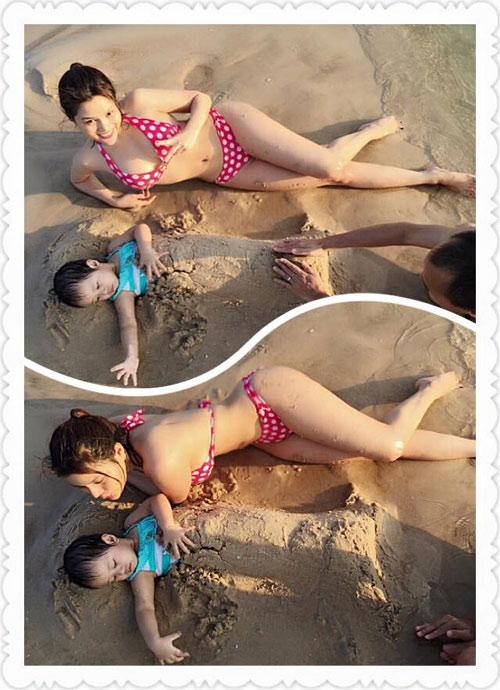 vu thu phuong dien bikini khoe dang tren bai bien - 1
